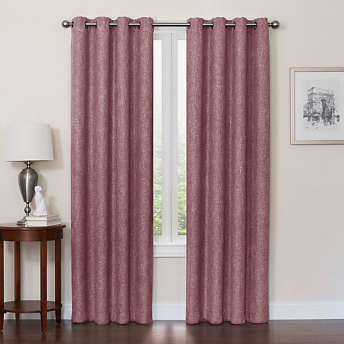 Alternate image 1 for Quinn 84-Inch Grommet Top 100% Blackout Window Curtain Panel in Eggplant