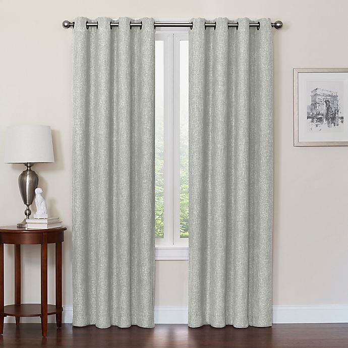 Alternate image 1 for Quinn 95-Inch Grommet Top 100% Blackout Window Curtain Panel in Jadestone
