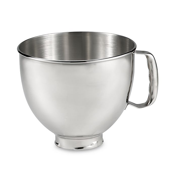 Alternate image 1 for KitchenAid® 5 qt. Polished Stainless Steel Bowl with Handle