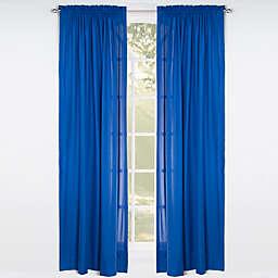 Solid Microfiber Rod Pocket Window Curtain Panel