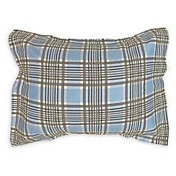 American Colors Cameron Alexander Plaid Boudoir Pillow Sham in Blue