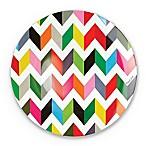 French Bull® Ziggy Multicolor Chevron Dinner Plates (Set of 4)