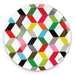 French Bull® Ziggy Multicolor Chevron Round Platter