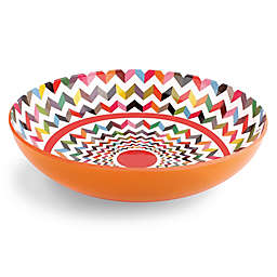 French Bull® Ziggy Multicolor Chevron Serving Bowl