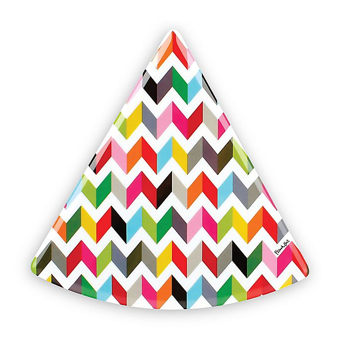 Alternate image 1 for French Bull® Ziggy Multicolor Chevron Pie Plates (Set of 6)