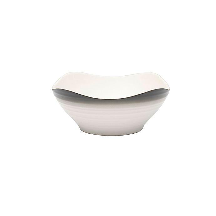 Alternate image 1 for Mikasa® Swirl Ombre Square Cereal Bowl in Graphite