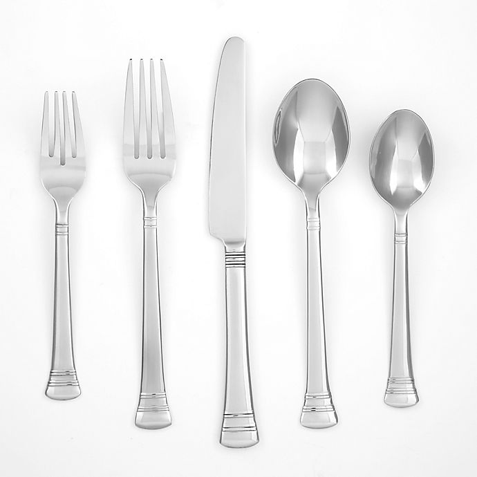 Alternate image 1 for Cambridge® Silversmiths Burbank 40-Piece Flatware Set with Buffet