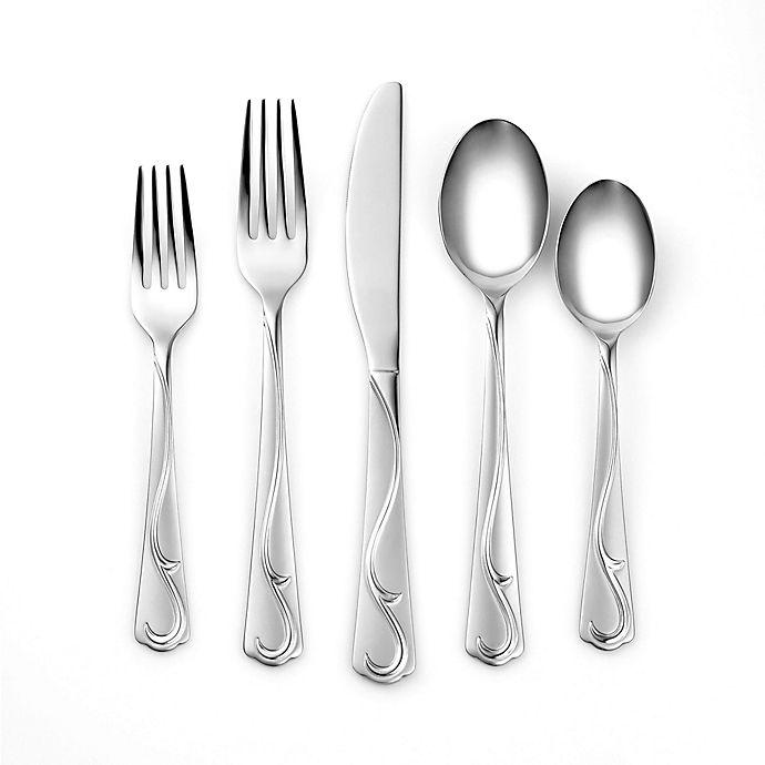Alternate image 1 for Cambridge® Silversmiths Eloise Sand 20-Piece Flatware Set in Silver
