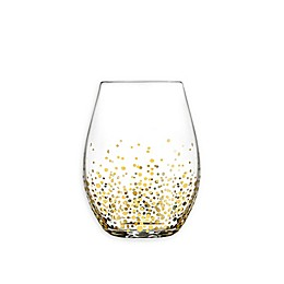 Fitz and Floyd® Luster Stemless Wine Glasses in Gold (Set of 6)