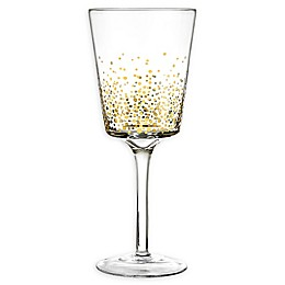 Fitz and Floyd® Luster Red Wine Glasses in Gold (Set of 6)