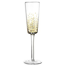 Fitz and Floyd® Luster Champagne Flutes in Gold (Set of 6)