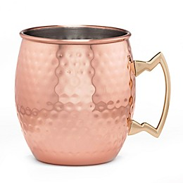 Cambridge Silversmiths 4-Piece Hammered Moscow Mule Mug Set in Copper