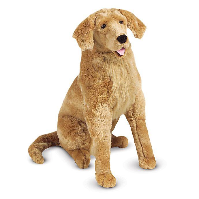 Melissa Doug Golden Retriever Dog Giant Stuffed Animal Bed Bath