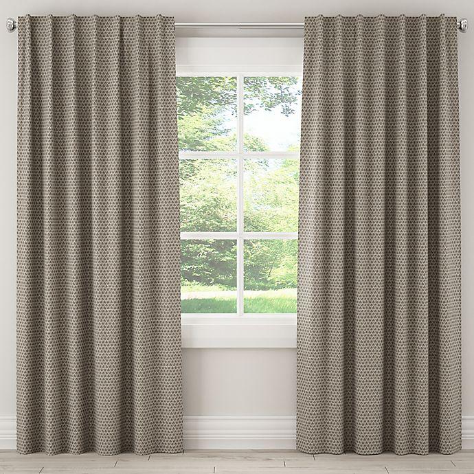 Alternate image 1 for Skyline Furniture Diego 84-Inch Rod Pocket/Back Tab Window Curtain Panel in Grey
