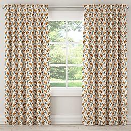 Skyline Furniture Vanves Floral Rod Pocket/Back Tab Window Curtain Panel