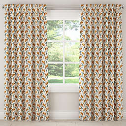 Skyline Furniture Vanves Floral Rod Pocket/Back Tab Window Curtain Panel