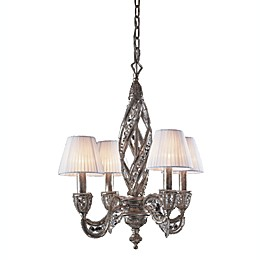 ELK Lighting 4-Light Chandelier in Bronze and Crystal