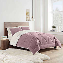 UGG® Avery Reversible 2-Piece Twin Comforter Set in Pink
