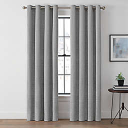 Brookstone® Harris 63-Inch Grommet 100% Blackout Window Curtain Panel in Platinum