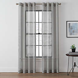 Brookstone® Harris 95-Inch Grommet Sheer Window Curtain Panel in Platinum