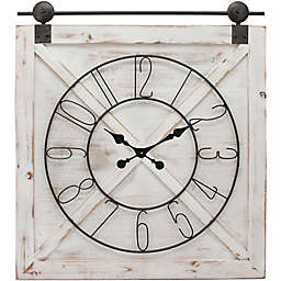 FirsTime® Farmstead 27-Inch Barn Door Wall Clock in White