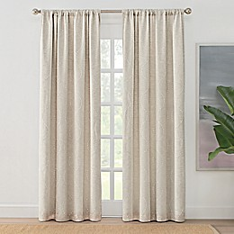 Brookstone® Zoey Rod Pocket 100% Blackout Embroidered Window Curtain Panel