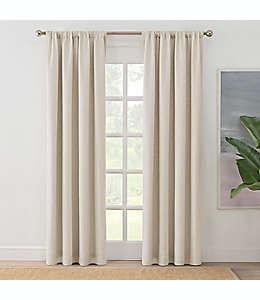 Cortina blackout Brookstone® Zoey con dobladillo, 2.13 m en lino