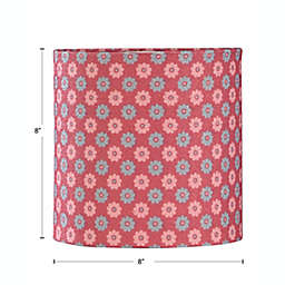 Multicolor Flower 8-Inch Lamp Shade