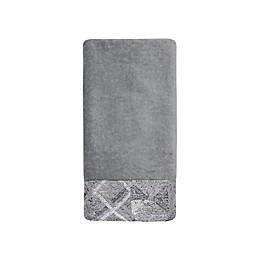 Croscill® Sloan Fingertip Towel in Grey