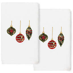 Linum Home Textiles Christmas Ornaments Hand Towels (Set of 2)