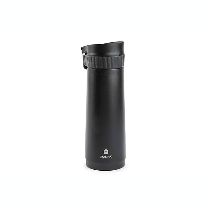 Alternate image 1 for Manna™ 16 oz. Verve Push Travel Mug in Black