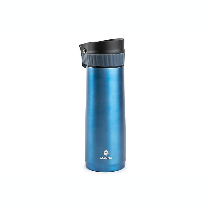 Alternate image 1 for Manna™ 16 oz. Verve Push Travel Mug in Blue