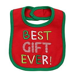 "Baby Starters® ""Best Gift Ever"" Embroidered Bib in Red"