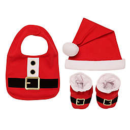 Baby Starters® 3-Piece Santa Bib, Hat, and Booties Set in Red