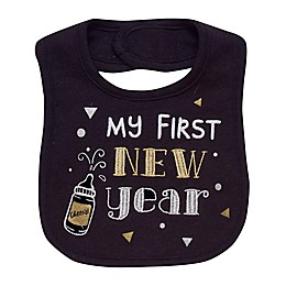 Baby Starters® My First New Year Bib in Black