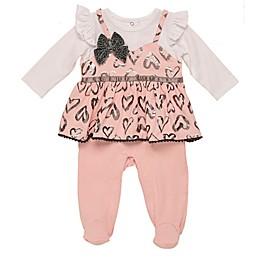 Baby Starters® Flounce Footie in Pink