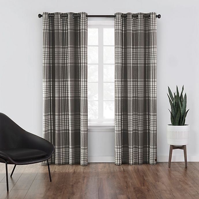 Alternate image 1 for UGG® Terra Flannel 95-Inch Grommet Light Filtering Window Curtain Panel in Mole