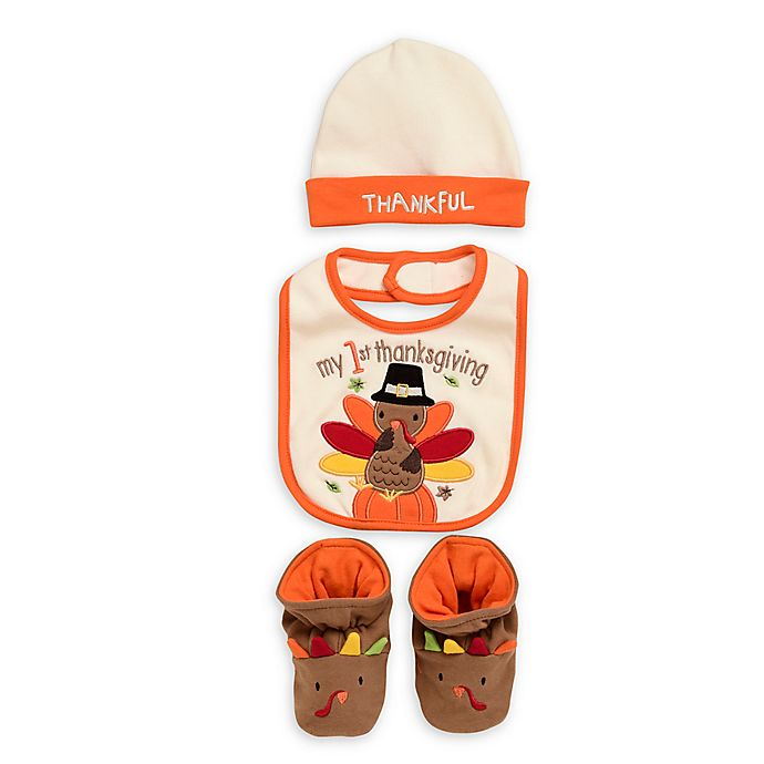 Alternate image 1 for Baby Starters® 3-Piece Thanksgiving Accessory Set
