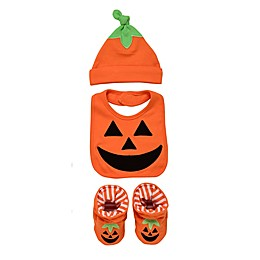 Baby Starters® Halloween Jack-O-Lantern 3-Piece Bib Set in Orange