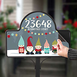 Gnome Family Personalized Magnetic Garden Sign