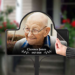 Photo Memorial Personalized Magnetic Garden Sign