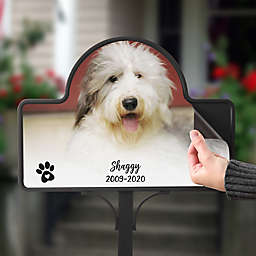 Pet Photo Memorial Personalized Magnetic Garden Sign