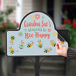 Bee Happy Personalized Magnetic Garden Sign
