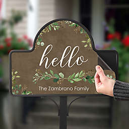Greenery Welcome Personalized Magnetic Garden Sign