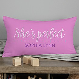 Baby Story Personalized 12-Inch x 22-Inch Lumbar Keepsake Pillow