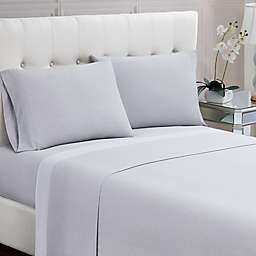 Charisma® Dot 200-Thread-Count Queen Sheet Set in Grey