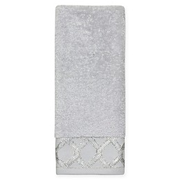 Croscill® Gwynn Hand Towel in Silver