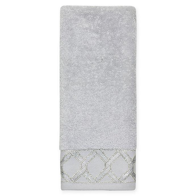 Alternate image 1 for Croscill® Gwynn Hand Towel in Silver