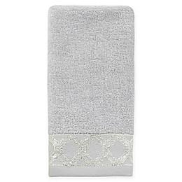 Croscill® Gwynn Fingertip Towel in Silver