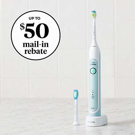 Mail-in-Rebate with Select Philips Sonicare® Toothbrushes. Shop Now